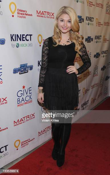 Stefanie Scott attends the XBOX Miracle Of Music Benefit In Honor Of The 2011 AMAs Hosted By Kevin Jonas And Special Guest DJ 'CSquared' Connor...