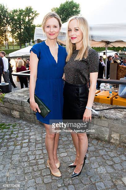 Stefanie Stappenbeck and Frederike Kempter attend the producer party 2015 of the Alliance German Producer Cinema And Television on June 11 2015 in...