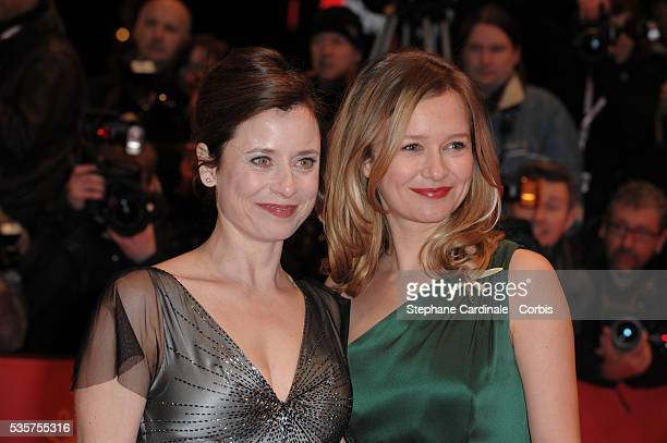 Stefanie Stappenbeck and Inka Friedrich attend the premiere of 'The International' during the 59th Berlin Film Festival