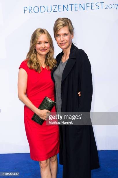 Stefanie Stappenbeck and Tina Bordhin attend the Summer Party of the German Producers Alliance on July 12 2017 in Berlin Germany