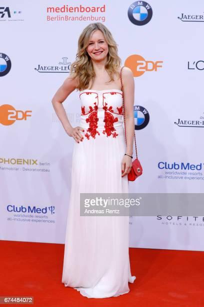 Stefanie Stappenbeck attend the Lola German Film Award red carpet at Messe Berlin on April 28 2017 in Berlin Germany