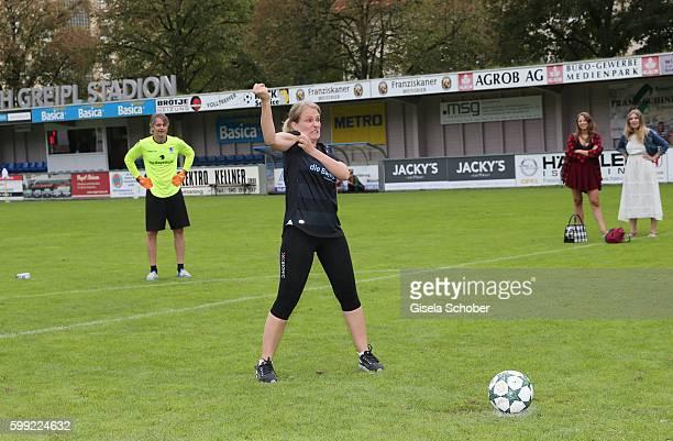 Stefanie von Poser during the charity football game 'Kick for Kids' to benefit 'Die Seilschaft zusammen sind wir stark eV' at the Prof Ernst Greipl...