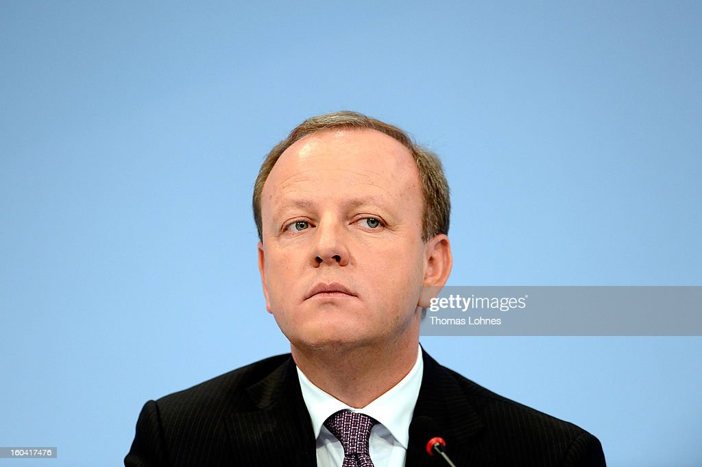 Stefann Krause, member of the executiv board of Deutsche Bank, attends the company's annual press conference to announce its financial results for 2012 on January 31, 2013 in Frankfurt, Germany. Deutsche Bank announced a fourth quarter, pre-tax loss of EUR 2.6 billion, largely due to restructuring and litigation costs.