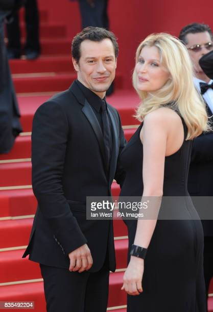 Stefano Accorsi and Laetitia Casta arrive for the premiere of the new film Visageduring the Cannes Film Festival at the Palais de Festival in Cannes...