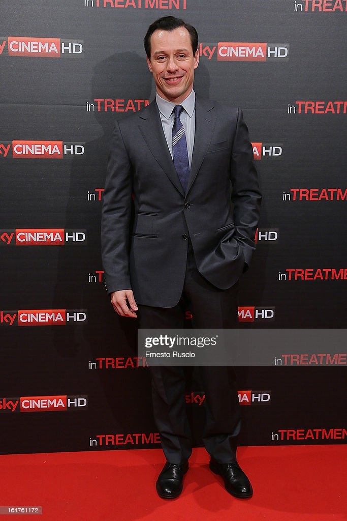 Stefano Accorsi attends the 'In Treatment' premiere at Teatro Capranica on March 27, 2013 in Rome, Italy.