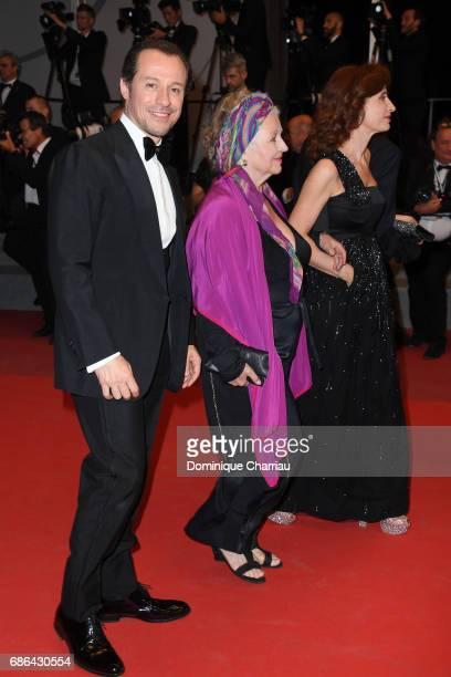 Stefano Accorsi Hanna Schygulla and Screenwriter Margaret Mazzantini of 'Fortunata' depart 'The Meyerowitz Stories' premiere during the 70th annual...