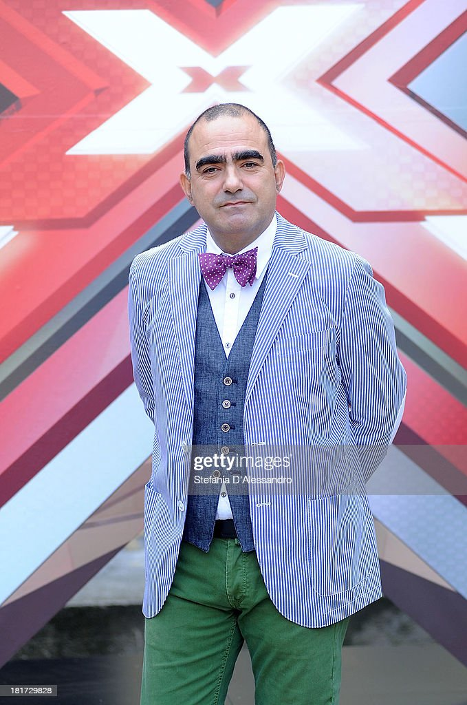 Stefano Belisari known as Elio attends X Factor 2013 Photocall at La Fonderia Napoleonica on September 24, 2013 in Milan, Italy.