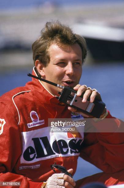 Stefano Casiraghi during off shore race on May 10 1987 in France