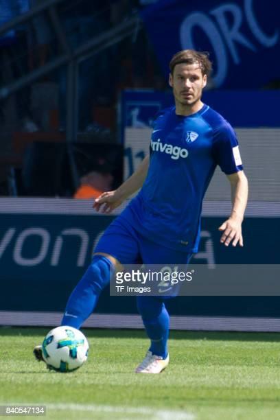Stefano Celozzi of Bochum controls the ball during the Second Bundesliga match between VfL Bochum 1848 and SG Dynamo Dresden at Vonovia Ruhrstadion...
