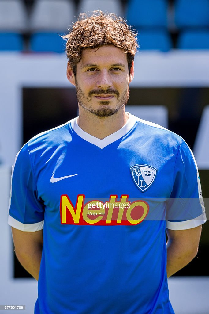 Stefano Celozzi poses during the official team presentation of VfL Bochum on July 19 2016 at Vonovia Ruhrstadion in Bochum Germany
