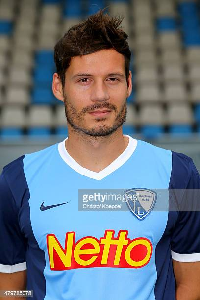 Stefano Celozzi poses during the team presentation of VfL Bochum at Rewirpower Stadium on July 7 2015 in Bochum Germany