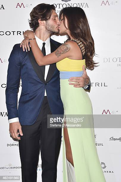 Stefano De Martino and Belen Rodriguez attend Alessandro Martorana's birthday party on January 29 2015 in Milan Italy