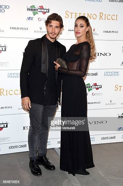 Stefano De Martino and Belen Rodriguez attend 'Celebrity Fight Night In Italy' Gala at the Palazzo Vecchio on September 7 2014 in Florence Italy