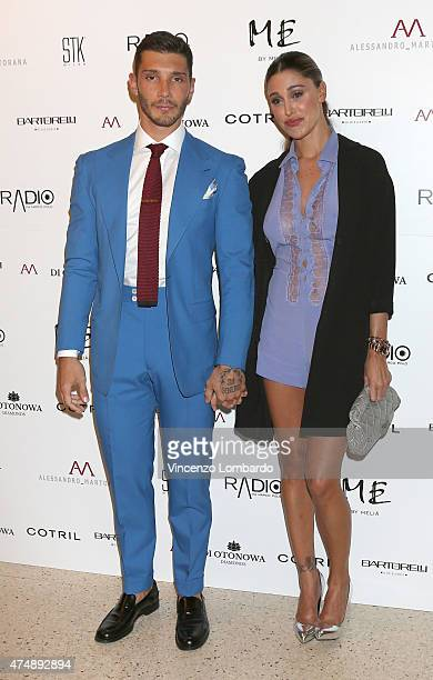 Stefano De Martino and Belen Rodriguez attend the 'Suit Tie' cocktail dinner party on May 27 2015 in Milan Italy