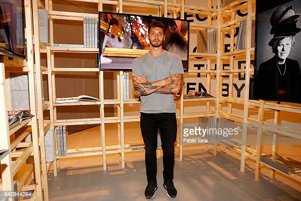 Stefano De Martino attends Renzo Rosso And OTB Launch 'Radical Renaissance 555' Book on June 17 2016 in Milan Italy