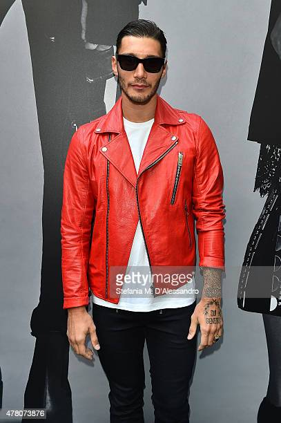 Stefano De Martino attends the Diesel Black Gold show during the Milan Men's Fashion Week Spring/Summer 2016 on June 22 2015 in Milan Italy