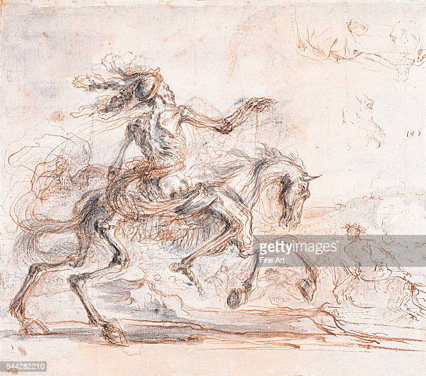 Stefano della Bella Death on the Battlefield pen and ink with pencil and chalk on paper undated Albertina Museum Vienna