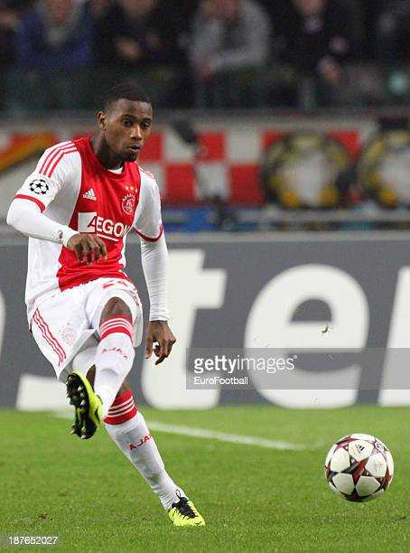 Stefano Denswil of AFC Ajax in action during the UEFA Champion League group stage match between AFC Ajax and Celtic FC held on November 6 2013 at the...