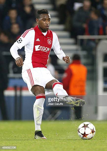 Stefano Denswil of Ajax Amsterdam in action during the UEFA Champions League Group F match between Paris SaintGermain FC and Ajax Amsterdam at Parc...