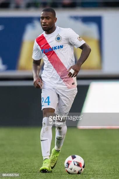 Stefano Denswil of Club Bruggeduring the Jupiler Pro League Play Off I match between KAA Gent and Club Brugge on April 02 2017 at the Ghelamco Arena...