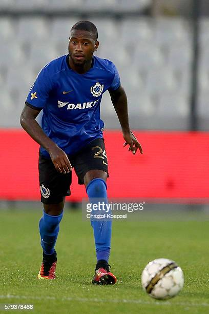 Stefano Denswill of Brugge runs with the ball during the Supercup match between Club Brugge and Standrad Liege at JanBreydelStadium on July 23 2016...