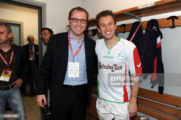 ACCESS** Stefano Domenicali and Antonio Cassano attend the XIX Partita Del Cuore charity football game at on May 25 2010 in Modena Italy
