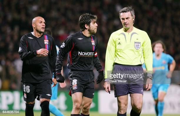 SANTOS / JUNINHO / Stefano FARINA Lyon / Barcelone Champions League 2007/2008 Photo Dave Winter / Icon Sport