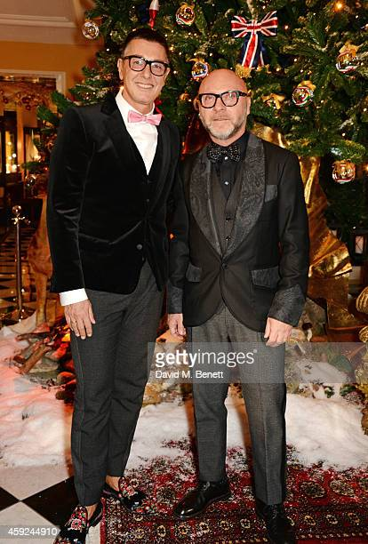 Stefano Gabbana and Domenico Dolce attend the Claridge's Dolce and Gabbana Christmas Tree party at Claridge's Hotel on November 19 2014 in London...