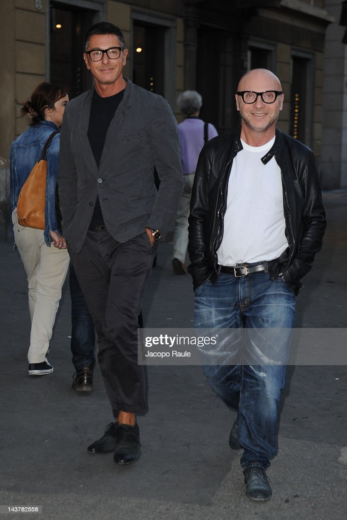 <a gi-track='captionPersonalityLinkClicked' href=/galleries/search?phrase=Stefano+Gabbana+-+Fashion+Designer&family=editorial&specificpeople=4820355 ng-click='$event.stopPropagation()'>Stefano Gabbana</a> and <a gi-track='captionPersonalityLinkClicked' href=/galleries/search?phrase=Domenico+Dolce&family=editorial&specificpeople=534808 ng-click='$event.stopPropagation()'>Domenico Dolce</a> attends Dolce & Gabbana Milano Thunder Cocktail on May 3, 2012 in Milan, Italy.