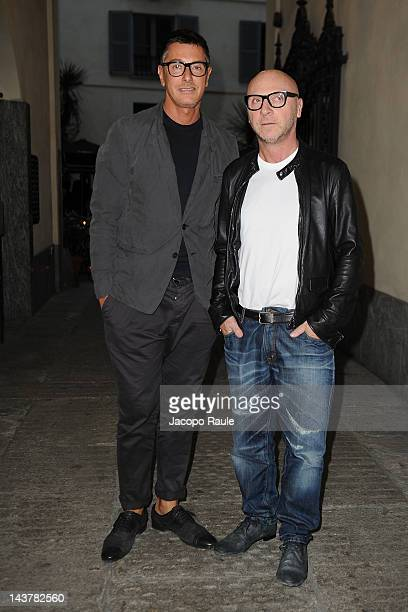 Stefano Gabbana and Domenico Dolce attends Dolce Gabbana Milano Thunder Cocktail on May 3 2012 in Milan Italy