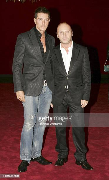 Stefano Gabbana and Domenico Dolce during Dolce Gabbana 20th Anniversary in Milano Italy