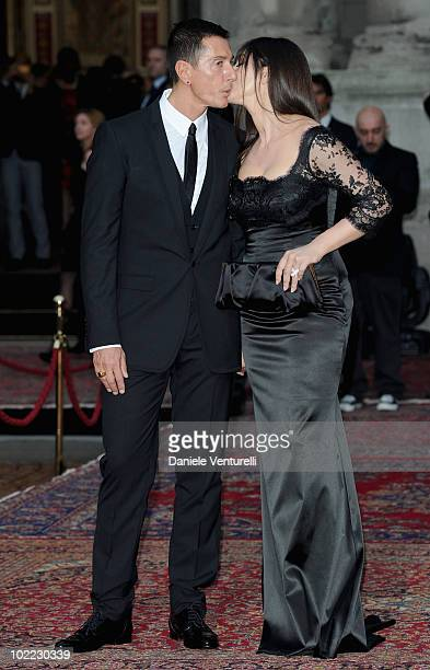 Stefano Gabbana and Monica Bellucci attend the Dolce Gabbana '20 Years of Menswear' during Milan Fashion Week Spring/Summer 2011 on June 19 2010 in...
