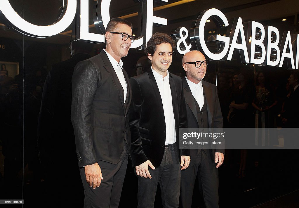 <a gi-track='captionPersonalityLinkClicked' href=/galleries/search?phrase=Stefano+Gabbana+-+Fashion+Designer&family=editorial&specificpeople=4820355 ng-click='$event.stopPropagation()'>Stefano Gabbana</a>, Carlos Jereissati Filho and <a gi-track='captionPersonalityLinkClicked' href=/galleries/search?phrase=Domenico+Dolce&family=editorial&specificpeople=534808 ng-click='$event.stopPropagation()'>Domenico Dolce</a> attend the Dolce&Gabbana cocktail party on April 9, 2013 in Sao Paulo, Brazil.