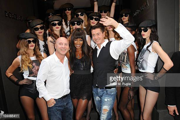 Stefano Gabbana Naomi Campbell and Domenico Dolce attend Naomi Campbell Celebrates 25 Year Career With Dolce Gabbana during Milano Fashion Week...