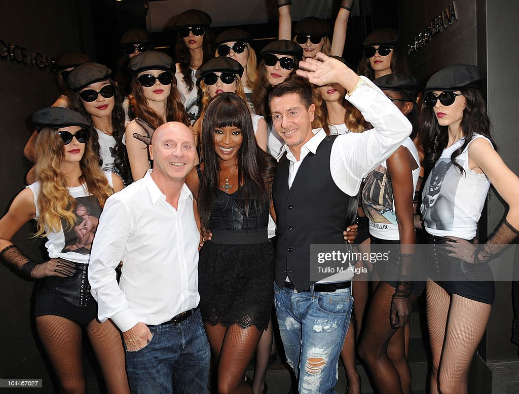 Stefano Gabbana (R) Naomi Campbell and Domenico Dolce (L) attend Naomi Campbell Celebrates 25 Year Career With Dolce & Gabbana during Milano Fashion Week Womenswear Spring/Summer 2011 on September 26, 2010 in Milan, Italy.