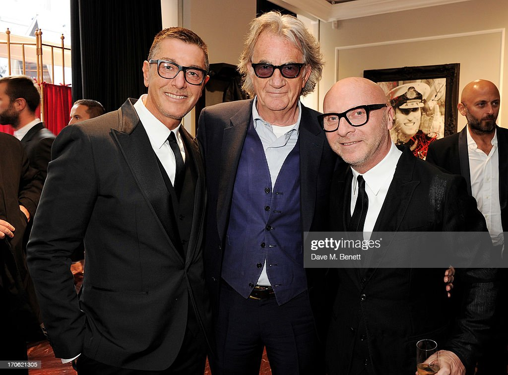 (L to R) <a gi-track='captionPersonalityLinkClicked' href=/galleries/search?phrase=Stefano+Gabbana+-+Fashion+Designer&family=editorial&specificpeople=4820355 ng-click='$event.stopPropagation()'>Stefano Gabbana</a>, Sir <a gi-track='captionPersonalityLinkClicked' href=/galleries/search?phrase=Paul+Smith+-+Fashion+Designer&family=editorial&specificpeople=5310632 ng-click='$event.stopPropagation()'>Paul Smith</a> and <a gi-track='captionPersonalityLinkClicked' href=/galleries/search?phrase=Domenico+Dolce&family=editorial&specificpeople=534808 ng-click='$event.stopPropagation()'>Domenico Dolce</a> attend the opening of the new Dolce & Gabbana men's store with a preview of the Summer 2014 Tailoring Collection at Dolce & Gabbana on June 15, 2013 in London, England.