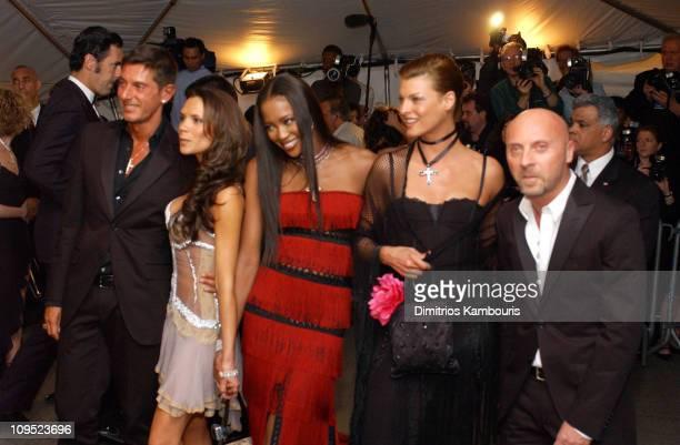 Stefano Gabbana Victoria Beckham Naomi Campbell Linda Evangelista and Domenico Dolce