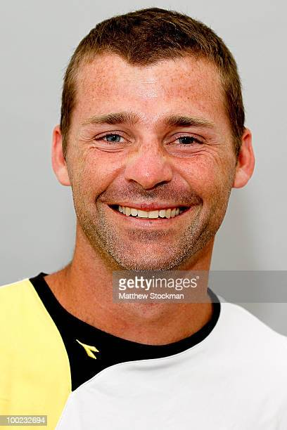 Stefano Galvani poses for a headshot at Roland Garros on May 22 2010 in Paris France