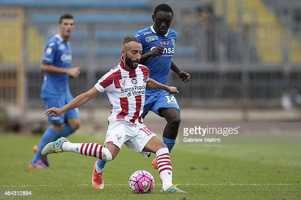 Stefano Giacomelli of Vicenza Calcio in action during the TIM Cup match between Empoli FC and Vicenza Calcio at Stadio Carlo Castellani on August 15...