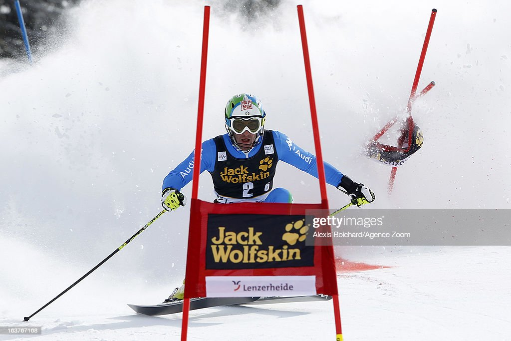 Stefano Gross of Italy competes during the Audi FIS Alpine Ski World Cup Nation's Team event on March 15, 2013 in Lenzerheide, Switzerland.