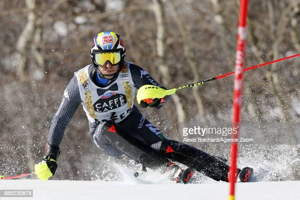 Stefano Gross of Italy competes during the Audi FIS Alpine Ski World Cup Finals Women's Giant Slalom and Men's Slalom on March 19 2017 in Aspen...