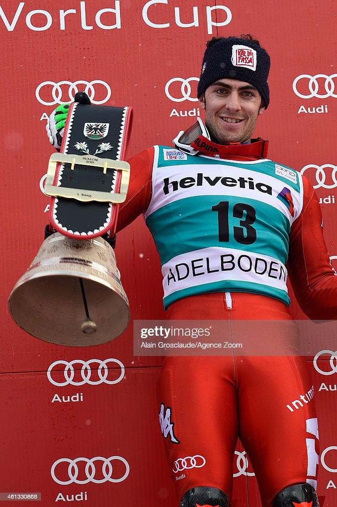 <a gi-track='captionPersonalityLinkClicked' href=/galleries/search?phrase=Stefano+Gross&family=editorial&specificpeople=5678979 ng-click='$event.stopPropagation()'>Stefano Gross</a> of Italy takes 1st place during the Audi FIS Alpine Ski World Cup Men's Slalom on January 11, 2015 in Adelboden, Switzerland.