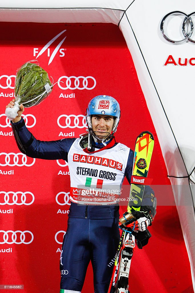 <a gi-track='captionPersonalityLinkClicked' href=/galleries/search?phrase=Stefano+Gross&family=editorial&specificpeople=5678979 ng-click='$event.stopPropagation()'>Stefano Gross</a> of Italy takes 3rd place during the Audi FIS Alpine Ski World Cup Men's and Women's City Event on February 23, 2016 in Stockholm, Sweden.