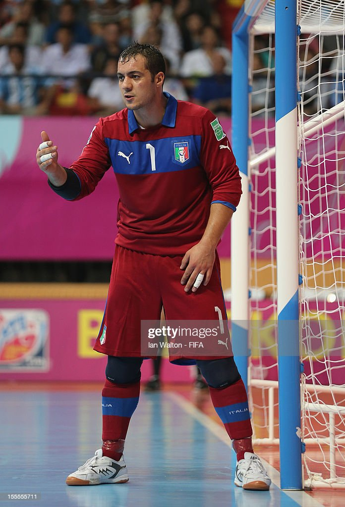 Stefano Mammarella of Italy during the FIFA Futsal World Cup Thailand 2012, Group D match between Argentina and Italy at Nimibutr Stadium on November 5, 2012 in Bangkok, Thailand.