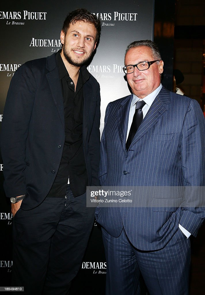 Stefano Mancinelli (L) and Franco Ziviani (R) attend Audemars Piguet Cocktail on October 21, 2013 in Milan, Italy.