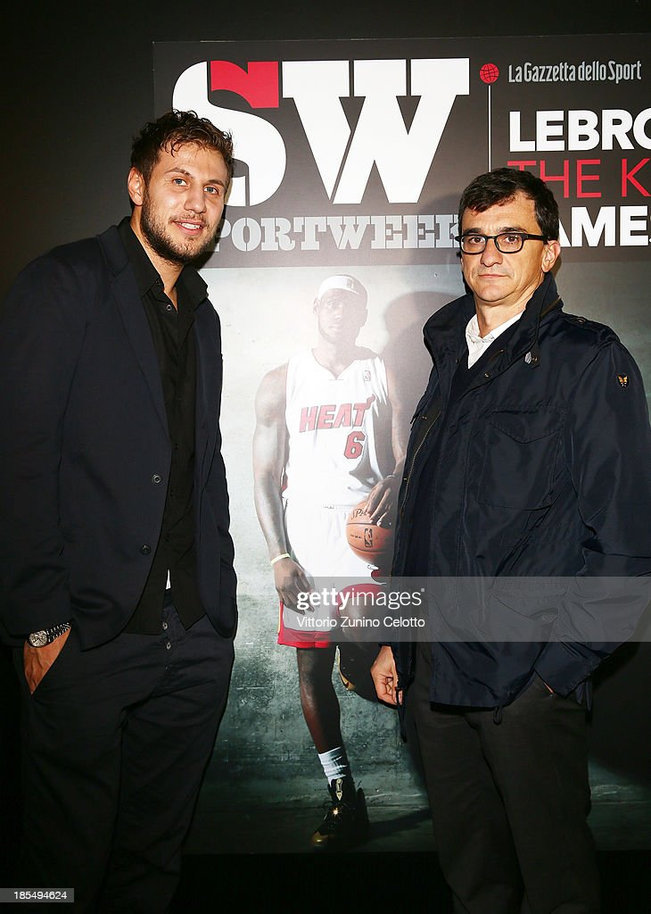Stefano Mancinelli (L) and Matteo Dore (R) attend Audemars Piguet Cocktail on October 21, 2013 in Milan, Italy.
