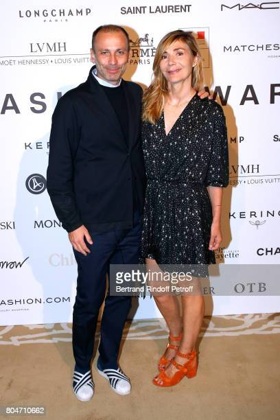 Stefano Marineto and Creator of the Price Nathalie Dufour attend the ANDAM 2017 Prize Winner Cocktail at Ministere de la Culture on June 30 2017 in...