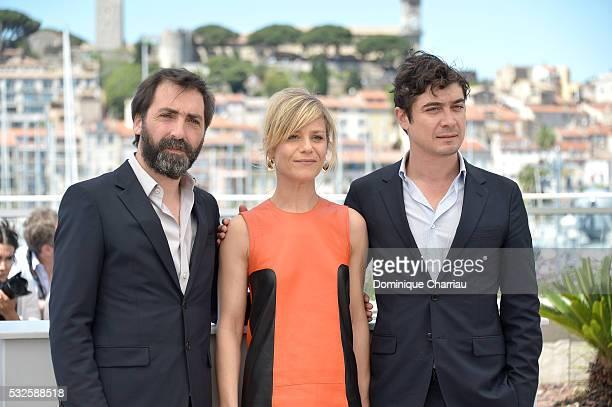 Stefano Mordini Marina Fois and Riccardo Scamarcio attend the 'Percile Il Nero' Photocall during the 69th annual Cannes Film Festival at the Palais...