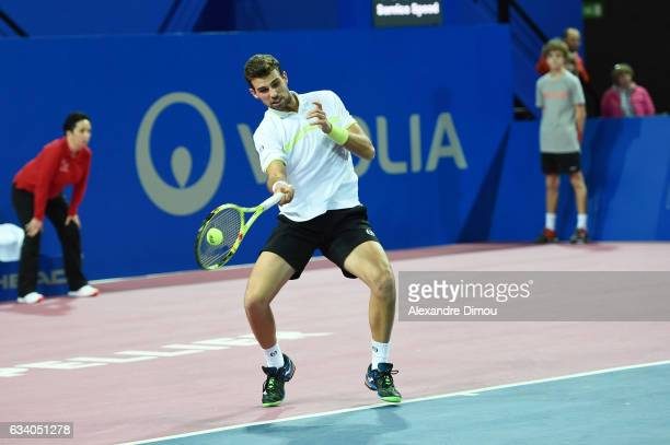 Stefano Napolitano competes during qualifiers of the Open Sud de France on February 6 2017 in Montpellier France