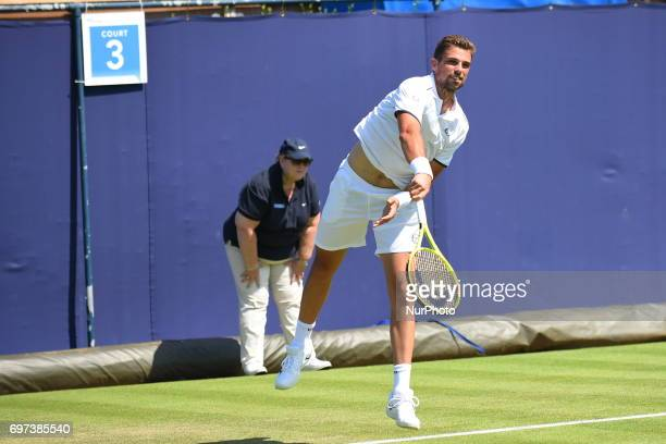 Stefano Napolitano is pictured while plays a qualification match at the AEGON Championships at Queen's Club London on June 16 2017